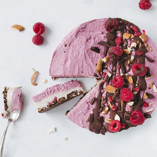 No-Bake Rasberry Chocolate Cheesecake